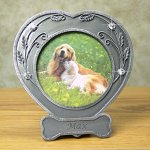 BANBERRY-DESIGNS-Dog-Photo-Frame-Pewter-Finished-Heart-Shaped-Frame-with-Crystals-Pet-Remembrance-Frame-Dog-Picture-Frame-Pet-Memorial-0-2