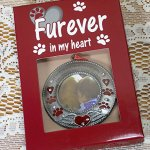 BANBERRY-DESIGNS-in-Loving-Memory-Pet-Ornament-Pet-Memorial-Christmas-Photo-Ornament-Furever-in-My-Heart-Red-Hearts-with-Angel-Wings-and-Paw-Prints-Pet-Sympathy-Gifts-Loss-of-a-Pet-0-0