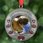BANBERRY-DESIGNS-in-Loving-Memory-Pet-Ornament-Pet-Memorial-Christmas-Photo-Ornament-Furever-in-My-Heart-Red-Hearts-with-Angel-Wings-and-Paw-Prints-Pet-Sympathy-Gifts-Loss-of-a-Pet-0-2