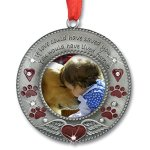 BANBERRY-DESIGNS-in-Loving-Memory-Pet-Ornament-Pet-Memorial-Christmas-Photo-Ornament-Furever-in-My-Heart-Red-Hearts-with-Angel-Wings-and-Paw-Prints-Pet-Sympathy-Gifts-Loss-of-a-Pet-0