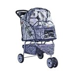 BestPet-Pet-Stroller-Cat-Dog-3-Wheel-Walk-Travel-Folding-Carrier-WRain-Cover-Zebra-0-2