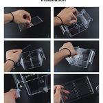 Boxtech-Aquarium-Fish-Tank-Hatchery-Incubator-Breeding-Box-Acrylic-White-Breeder-Isolation-Divider-Hatching-Boxes-Accessory-for-Small-Baby-Fishes-Shrimp-Clownfish-Guppy-0-2
