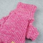 Fitwarm-Turtleneck-Knitted-Coat-for-Dogs-Sweaters-Pet-Winter-Clothes-Jumper-Pullover-Pink-0-1