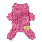Fitwarm-Turtleneck-Knitted-Coat-for-Dogs-Sweaters-Pet-Winter-Clothes-Jumper-Pullover-Pink-0
