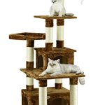 Go-Pet-Club-F206-Cat-Tree-Condo-Scratcher-Post-Pet-Bed-Furniture-67-inch-Black-0