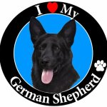 I-Love-My-German-Shepherd-Black-Car-Magnet-With-Realistic-Looking-German-Shepherd-Photograph-In-The-Center-Covered-In-UV-Gloss-For-Weather-and-Fading-Protection-Circle-Shaped-Magnet-Measures-525-Inche-0