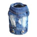 SILD-Pet-Clothes-Dog-Jeans-Jacket-Cool-Blue-Denim-Coat-Small-Medium-Dogs-Lapel-Vests-Classic-Hoodies-Puppy-Blue-Vintage-Washed-Clothes-0