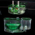Shoresu-Clear-Fish-Breeding-Isolation-Box-Tank-Aquarium-Auto-Circulating-Fish-Hatchery-Transparent-10-x-13-x-7cm-0-0