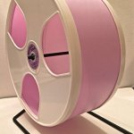 12-DIAMETER-HEDGEHOG-WODENT-WHEEL-WITH-WIDE-TRACK-LAVENDER-WITH-WHITE-PANELS-0-0
