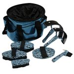 7-Pc-Teal-Turquoise-Blue-Zebra-Grooming-Tools-Kit-and-Tote-Bag-0