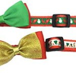 Alemon-2-Pack-Christmas-Santa-Snowman-Holiday-Xmas-Collar-for-Cats-Kitten-with-Bowtie-Adjustable-8-14-0-0