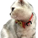 Alemon-2-Pack-Christmas-Santa-Snowman-Holiday-Xmas-Collar-for-Cats-Kitten-with-Bowtie-Adjustable-8-14-0-2
