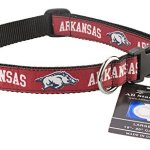All-Star-Dogs-Arkansas-Razorbacks-Ribbon-Dog-Collar-Medium-0