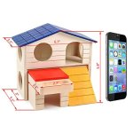 BWOGUE-Pet-Small-Animal-Hideout-Hamster-House-Deluxe-Two-Layers-Wooden-Hut-Play-Toys-Chews-0-1
