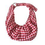 Calunce-Adjustable-Shoulder-Strap-Plaid-Design-Reversible-Pet-Sling-Carrier-Bag-Soft-and-Comfortable-Cotton-for-little-DagCat-UP-to-115-lbs-0-2