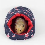 DOCHI-QUEEN-Blue-Star-Pattern-Egloos-Cotton-for-Hedgehogs-Hamsters-and-Other-Small-Animals-Easy-to-Clean-Machine-Washable-Water-Washable-Hand-MadeHide-Out-0-0