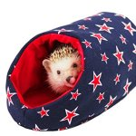 DOCHI-QUEEN-Blue-Star-Pattern-Egloos-Cotton-for-Hedgehogs-Hamsters-and-Other-Small-Animals-Easy-to-Clean-Machine-Washable-Water-Washable-Hand-MadeHide-Out-0