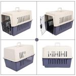 Dporticus-Portable-Pet-Airline-BoxOutdoor-Portable-Cage-Carrier-Suitable-for-Dogs-Cats-Rabbits-Hamsters-etcThree-Size-0-1