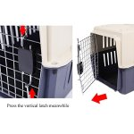 Dporticus-Portable-Pet-Airline-BoxOutdoor-Portable-Cage-Carrier-Suitable-for-Dogs-Cats-Rabbits-Hamsters-etcThree-Size-0-2