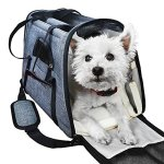 Ess-and-Craft-Pet-Carrier-Airline-Approved-Side-Loading-Travel-Bag-with-Sturdy-Bottom-Fleece-Cushion-Ventilated-Pouch-with-Top-Handle-Shoulder-Strap-Zipper-Locks-for-Dogs-Cats-Others-0