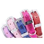 HOWS-YOUR-DOG-Fab-Glitter-Name-Me-Personalized-Collar-for-Dogs-and-Cats-Free-Swarovski-Crystal-Letters-included-Pearl-Pink-0-2