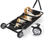 Happybuy-Animal-Stretcher-Black-Pet-Stretcher-48×26-Inch-Animal-Stretcher-Pet-Trolley-with-Wheels-Max-250lbs-Capacity-0