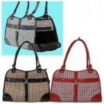 Houndstooth-Print-Tote-Pet-Dog-Cat-CarrierTote-Purse-Travel-Airline-Bag-Brown-Medium-0-0