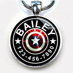 Pet-Tags-Captain-America-Custom-pet-ID-tag-Dog-tag-cat-Single-Sided-with-Metal-Tray-0