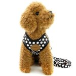 SELMAI-Small-Dog-Harness-Vest-Leash-Set-Polka-DotCamo-Mesh-Padded-No-Pull-Leads-for-Puppy-Pet-Cat-0