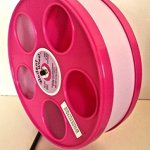 SMALL-ANIMAL-11-DIAMETER-WODENT-EXERCISE-WHEELPINK-W-LAVENDER-TRACK-TOTAL-HEIGHT-123-0
