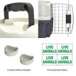 SportPet-Designs-Plastic-Kennels-Rolling-Plastic-Wire-Door-Travel-Dog-Crate-0-2