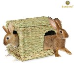 SunGrow-Folding-Woven-Grass-House-for-Rabbits-Guinea-Pigs-Bunnies-Provides-Comfort-Warmth-Security-by-Satisfying-Natural-Instincts-Multi-Utility-Edible-Non-Toxic-Chew-Toy-for-Small-Animals-0