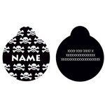 Yellow-Dog-Design-Skull-and-Crossbones-Personalized-Hi-Def-Pet-ID-Tag-with-Silencer-0-0