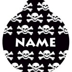 Yellow-Dog-Design-Skull-and-Crossbones-Personalized-Hi-Def-Pet-ID-Tag-with-Silencer-0