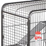 go2buy-4-Level-Indoor-Ferret-Cage-Hutch-for-Small-Pets-Black-0-2