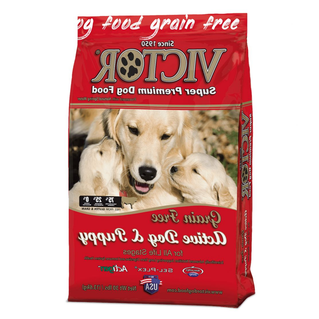 Why is victor dog food grain free
