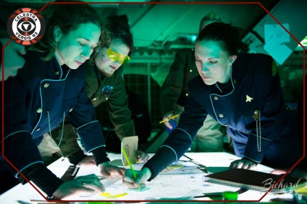 Galactica officers planning the next route for The Monitor Celestra. Photo: John-Paul Bichard (CC-NC-ND)