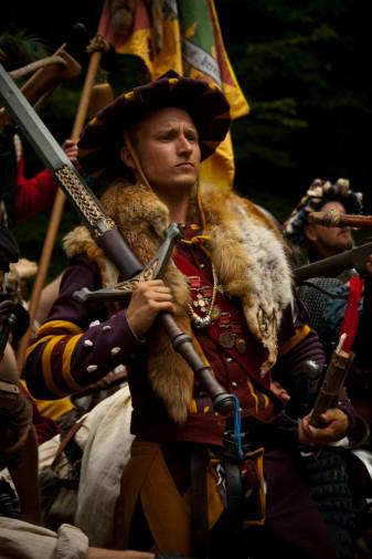 Hauptmann Ruttger Ebersbacher from The Guild. Portrait. Photo: Moa J-Molitor