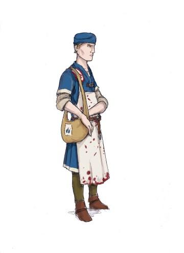 Medic from Cordovien. Illustration: Peter Edgar