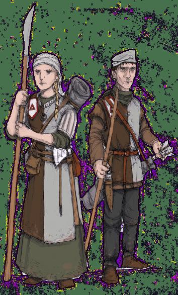Jorgala Militia. Illustration: Peter Edgar