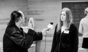BBC reporter doing interviews. Ingame. Photo: Tuomas Puikkonen (CC-BY 2.0)