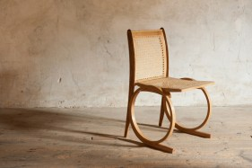 Ring Base Chair, very light and strong steam bent construction in oak.