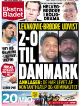 Pettersson är lite imponerad av den här löpsedeln. Det är skillnad mot svenska snyftartiklar om kriminella.
