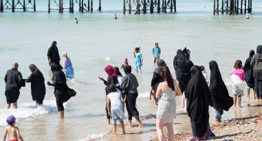 Strand i södra Storbritannien 2016.