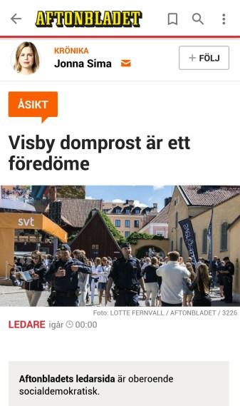 Aftonbladet Jonna Simma Visby