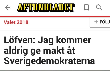 Aftonbladet Löfven makt