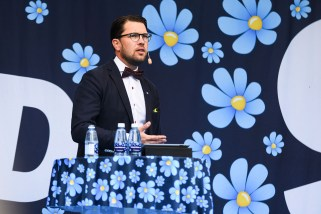 Jimmie Åkesson 2016-05-14.jpg by A947 is licensed under CC BY 3.0