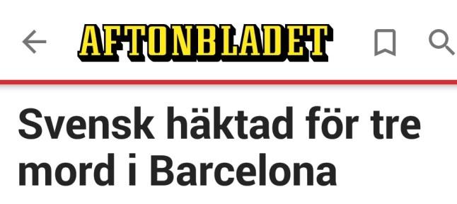 Aftonbladet svensk i Barcelona