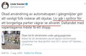 Linda Snecker automatvapen