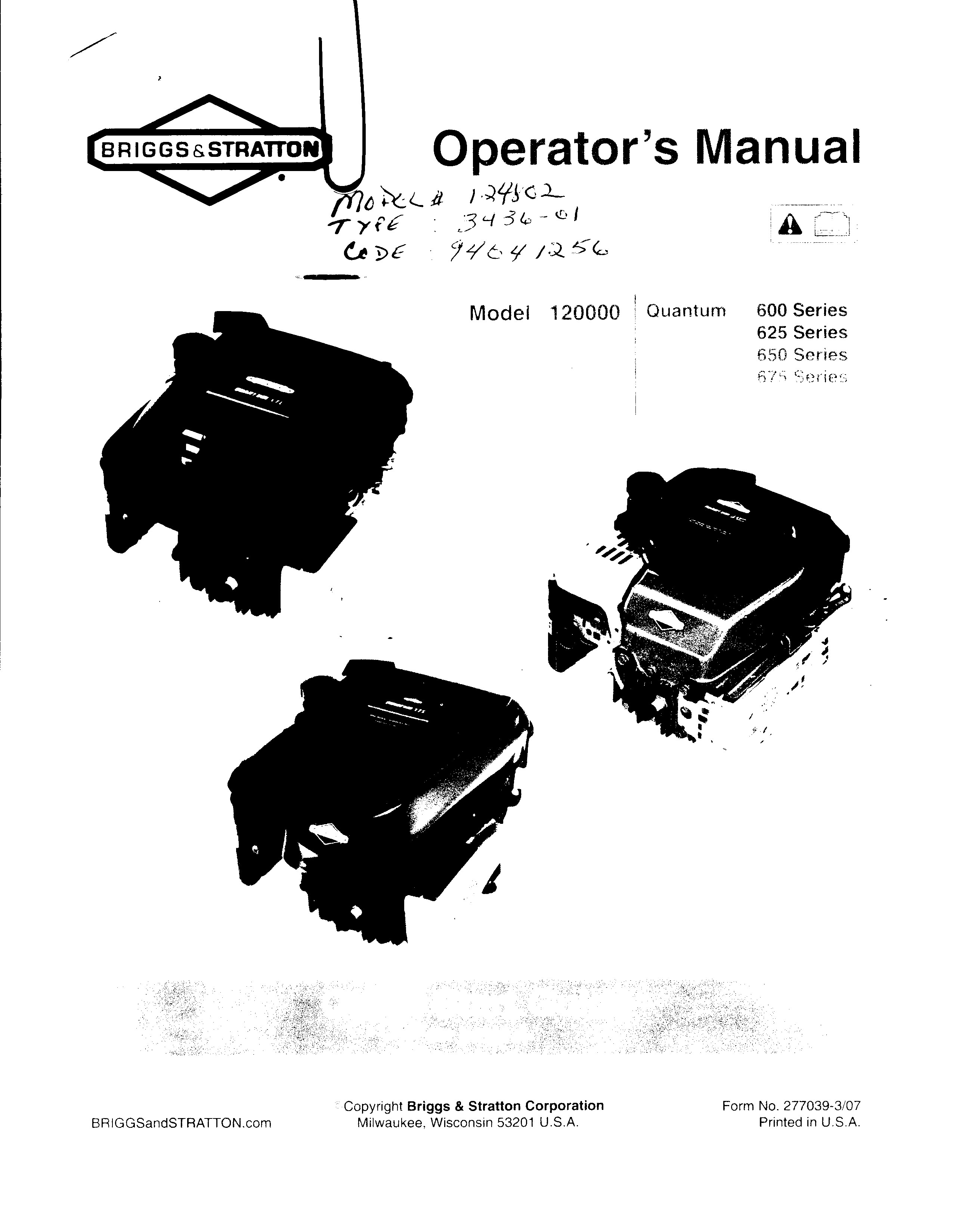 Download free Briggs And Stratton 450 Series Parts Manual